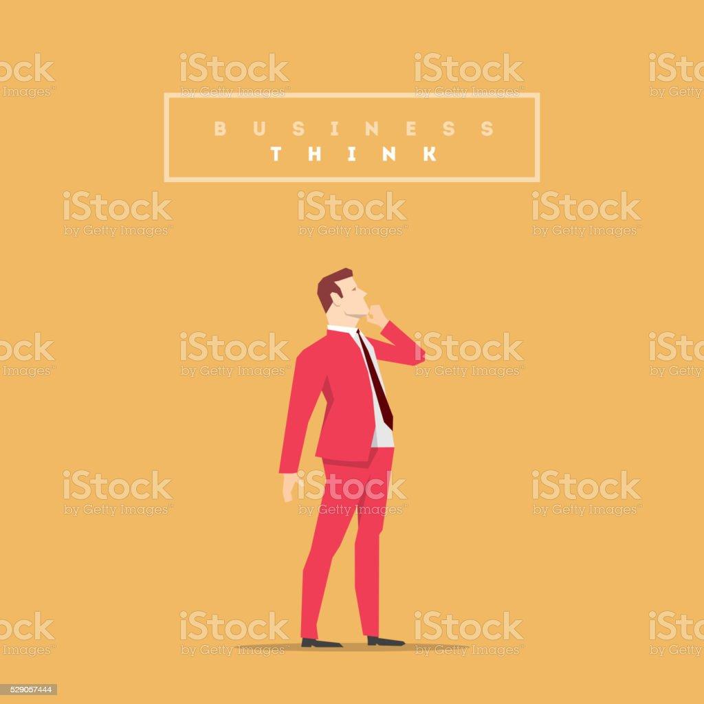 Red Suit Businessman Pose vector art illustration