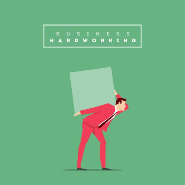 illustrazioni stock, clip art, cartoni animati e icone di tendenza di completo rosso uomo d'affari posizione - portare