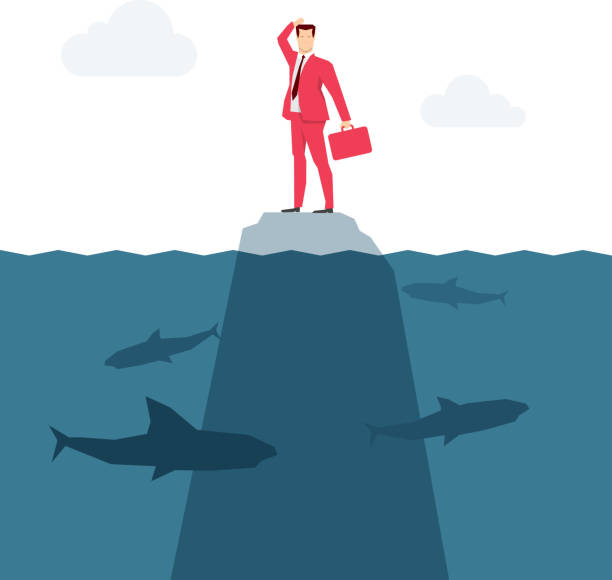 Roten Anzug Geschäftsmann – Vektorgrafik