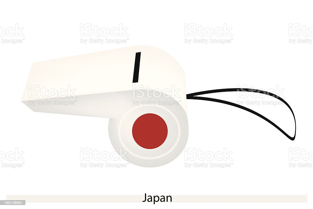 Red Sun on A White Whistle of Japan royalty-free stock vector art