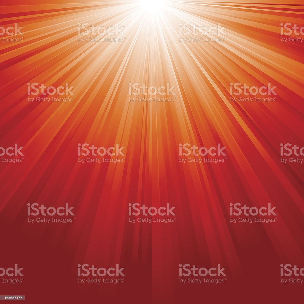 Red Sunburst royalty-free stock vector art