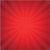 Red Sunburst With Gradient Mesh, Vector Illustration
