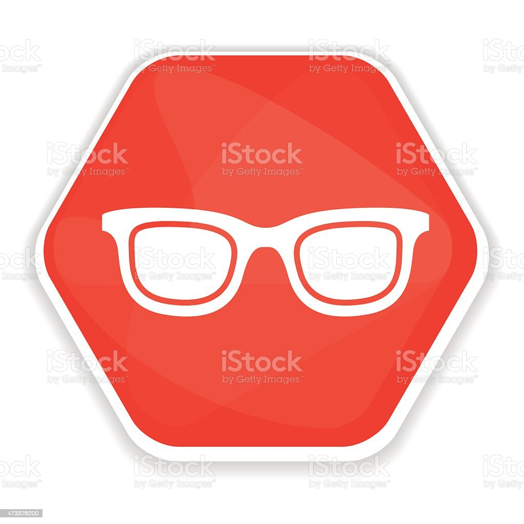 Red sunglasses vector icon vector art illustration