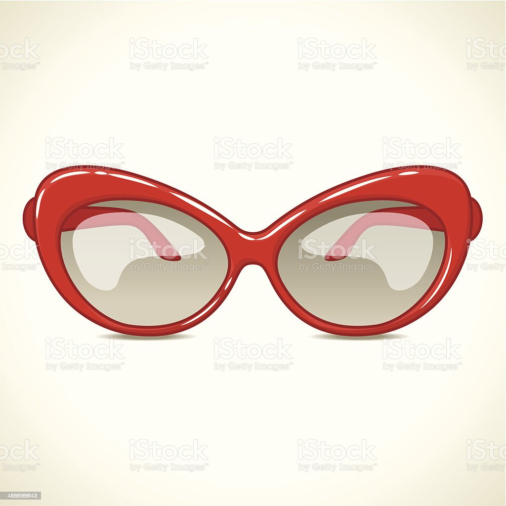 Red sunglasses. vector art illustration