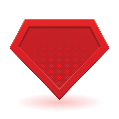 Red superhero template