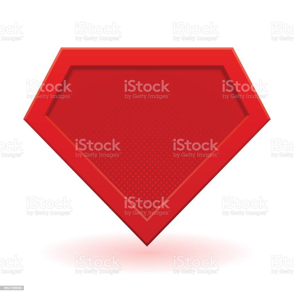 Red superhero template vector art illustration