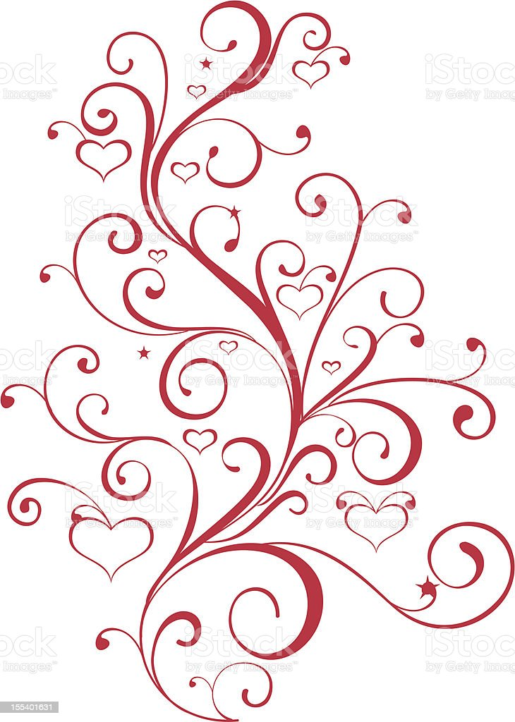 Download A Red Swirl Love Heart Valentines Day Design Stock ...