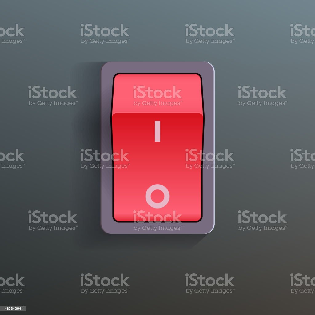 Red Switch. Vector vector art illustration