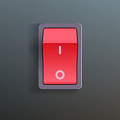 Red Switch. Vector