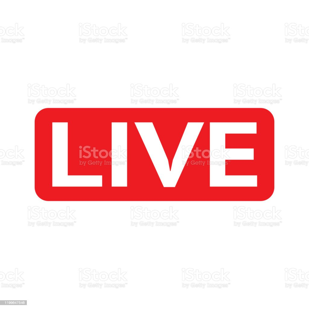Red Symbol Button Of Live Streaming Broadcasting Online Stream Lower Third  Template For Tv Shows Movies And Live Performances Stock Illustration -  Download Image Now - iStock