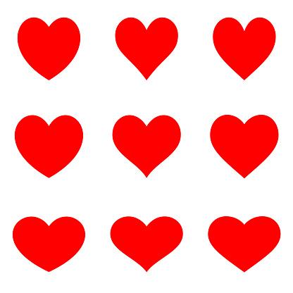 Kırmızı Hakketmek Kalpler Düz Icon Set Stok Vektör Sanatı & Arkadaşlık'nin Daha Fazla Görseli