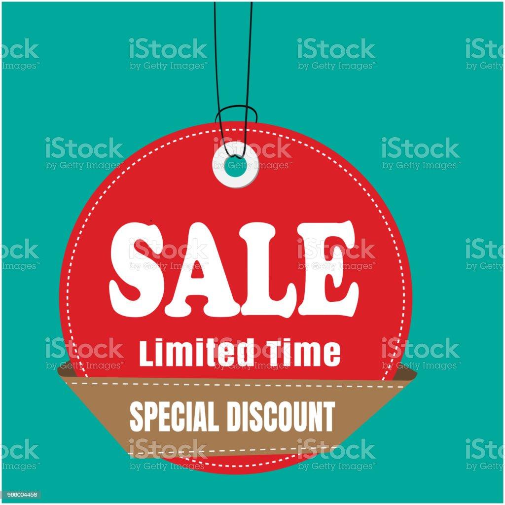 Red label Sale verkoop beperkte tijd speciale korting Vector Image - Royalty-free Achtergrond - Thema vectorkunst