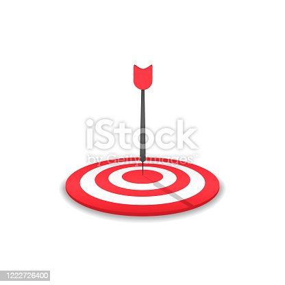 istock Red Target and arrow icon 1222726400