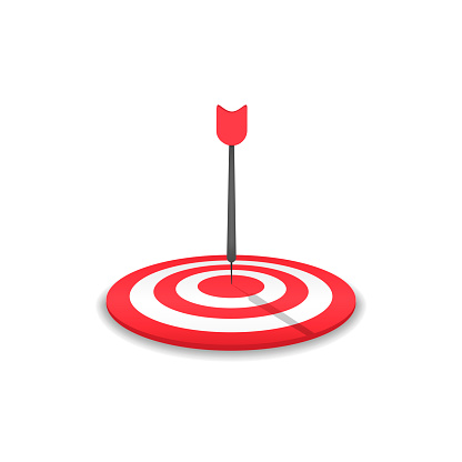 Red Target and arrow icon