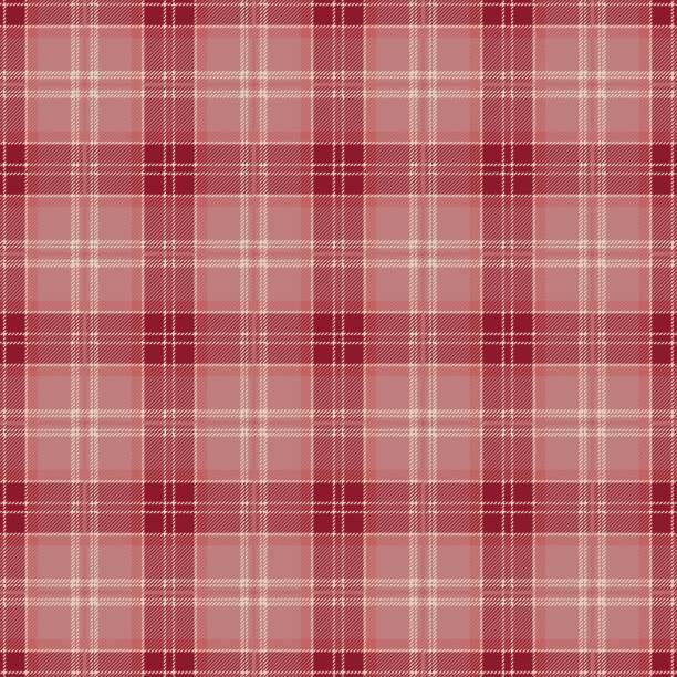 red tartan plaid pattern design - stripped pattern stock illustrations, clip art, cartoons, & icons