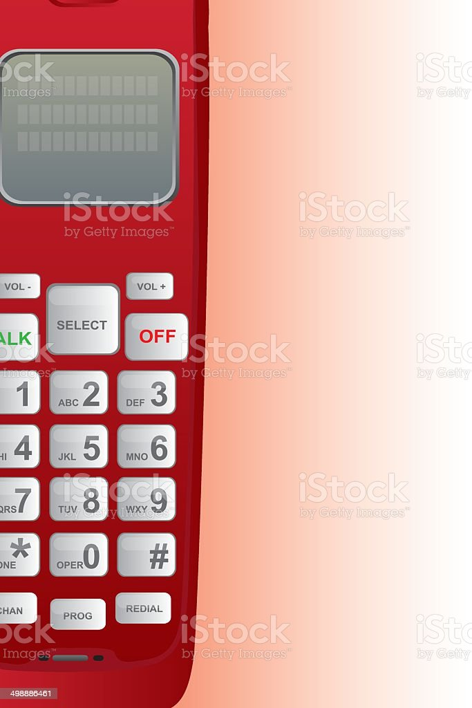 red telephone vector art illustration