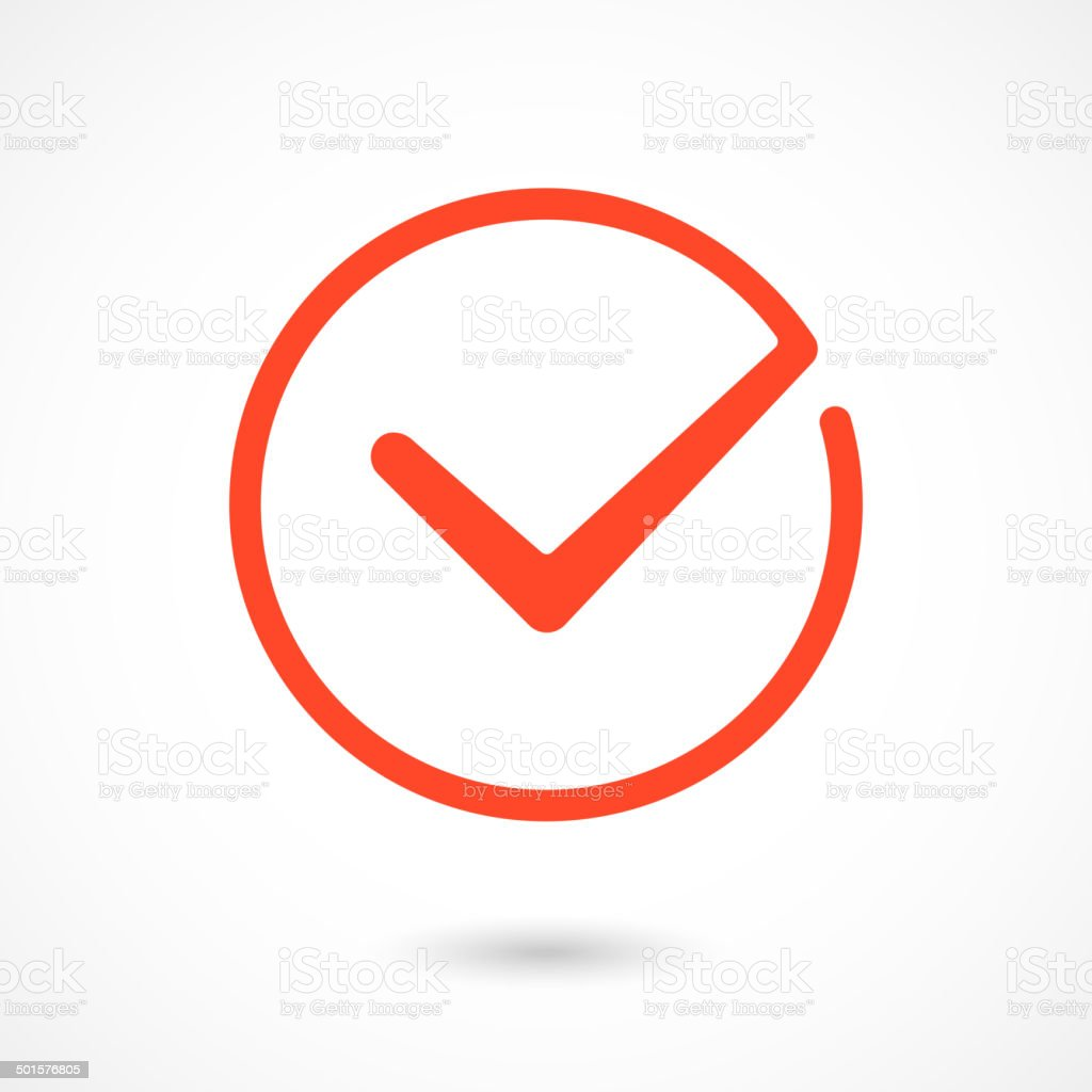 Red Tick Icon Stock Vector Art More Images Of Agreement Istock