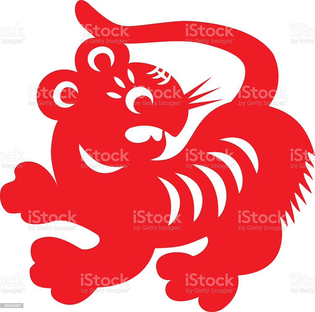 Red Tiger royalty-free stock vector art