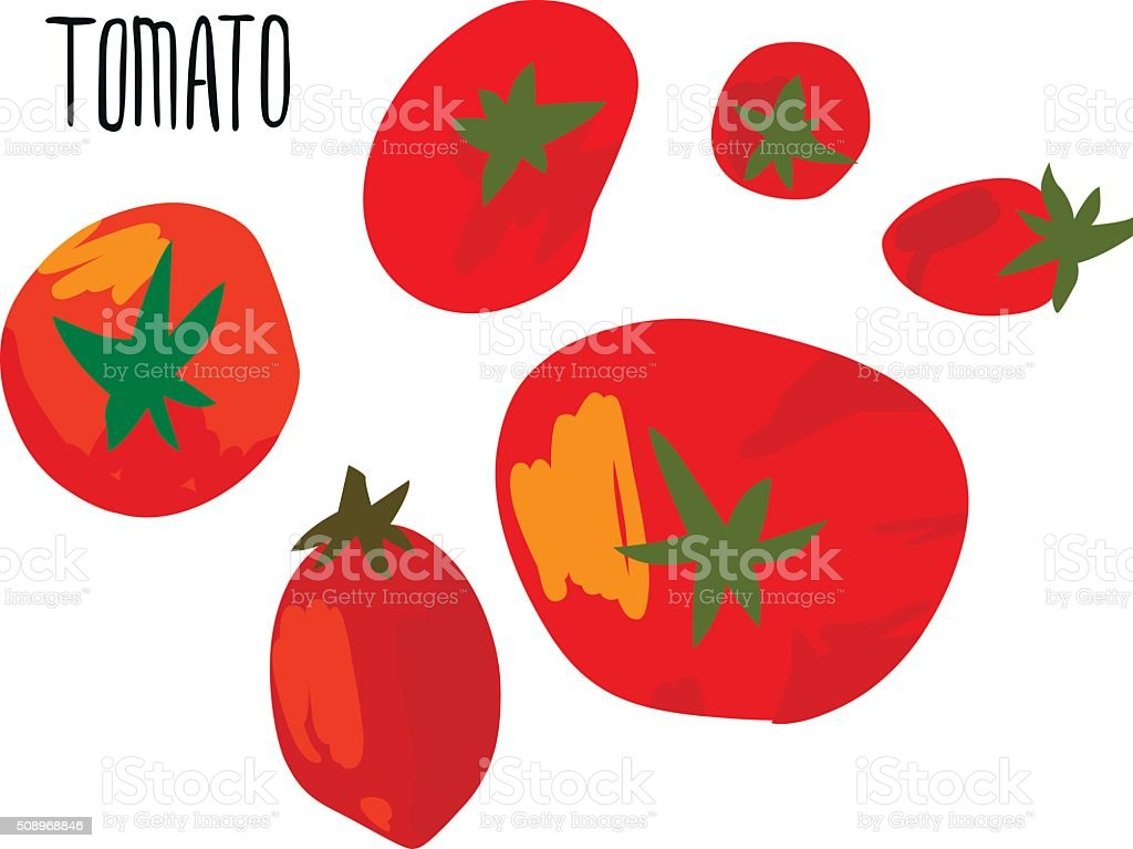 Red Tomatoes with Type vector art illustration