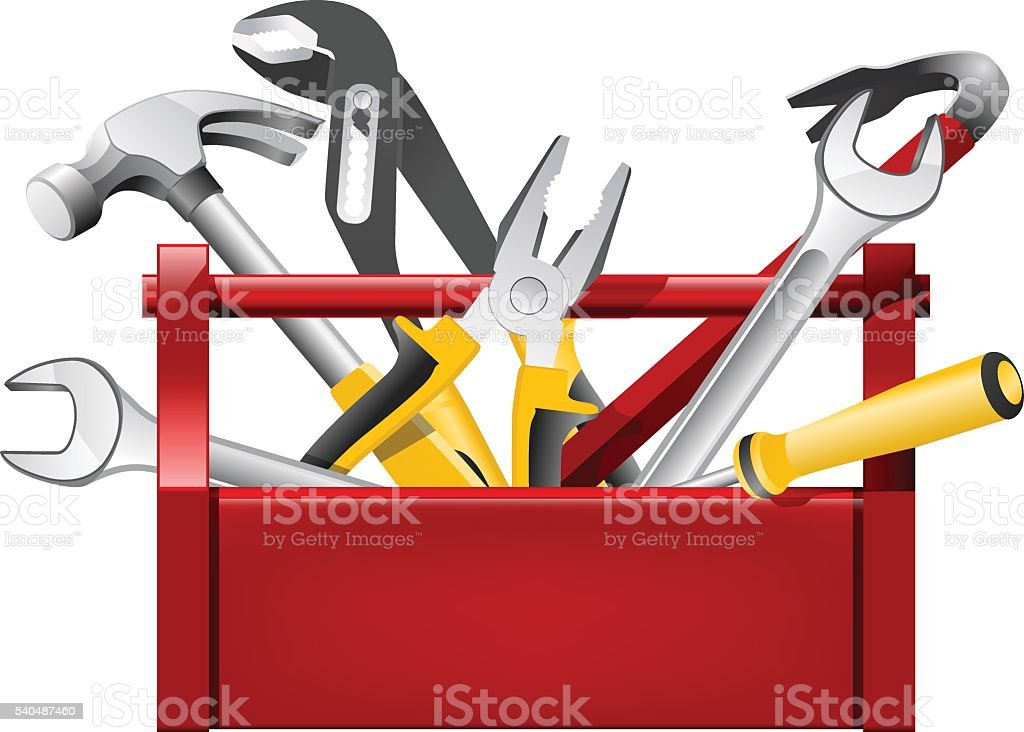 Royalty Free Red Toolbox Clip Art  Vector Images
