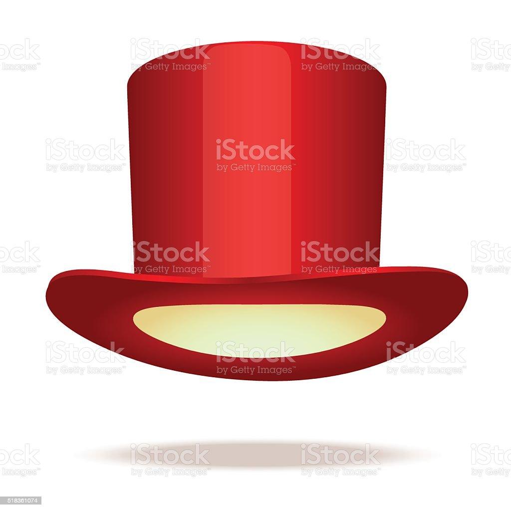 Sombrero rojo superior ilustración de sombrero rojo superior y más banco de  imágenes de accesorio personal 54c15fed820