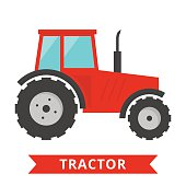 Red tractor icon
