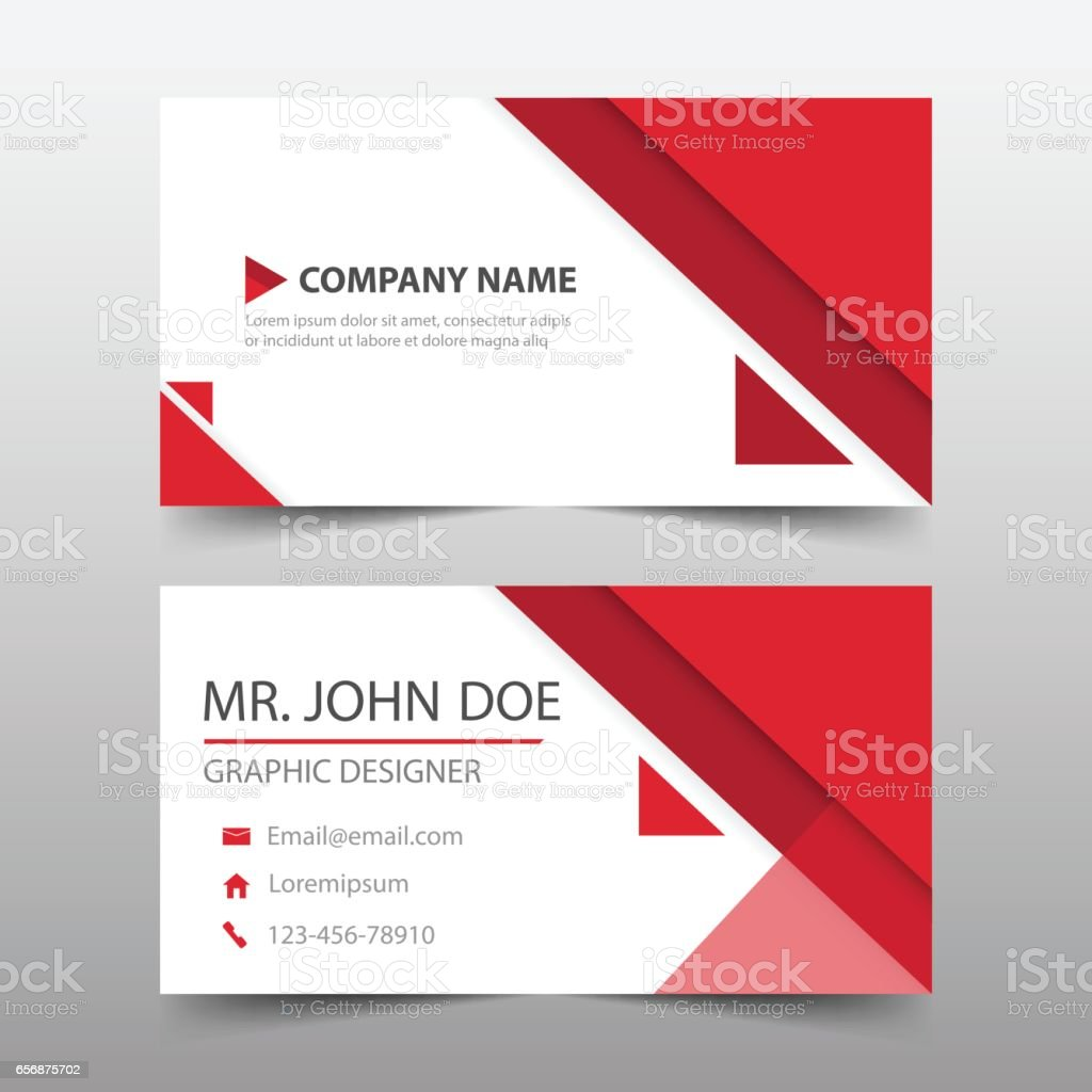 Red triangle corporate business card name card template horizontal red triangle corporate business card name card template horizontal simple royalty free red colourmoves