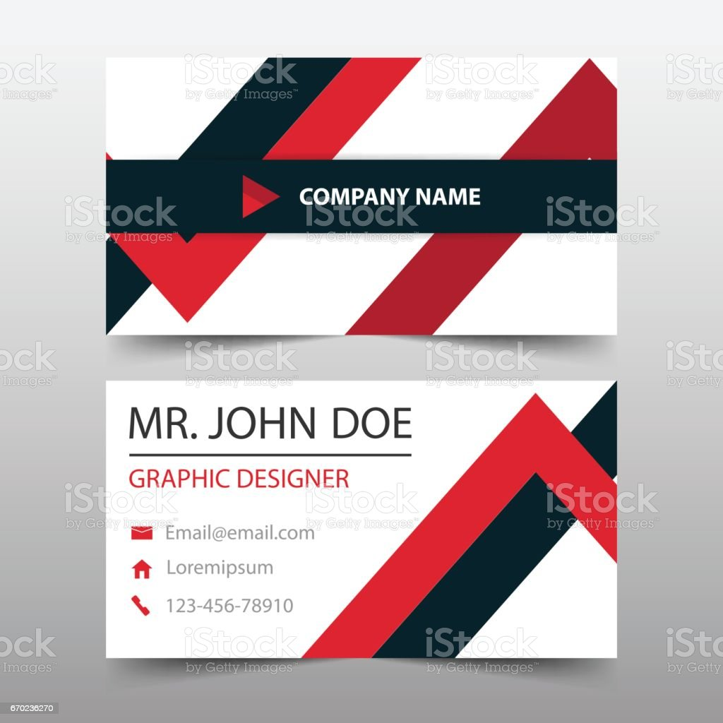 Red triangle corporate business card name card template horizontal red triangle corporate business card name card template horizontal simple royalty free stock magicingreecefo Choice Image