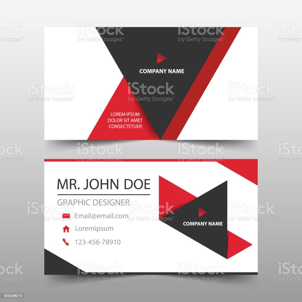 Red triangle corporate business card name card template horizontal red triangle corporate business card name card template horizontal simple royalty free red reheart Choice Image