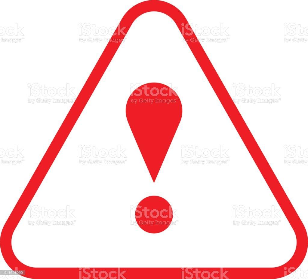 triangle rouge dexclamation ic ne avertissement attention bouton cliparts vectoriels et plus d. Black Bedroom Furniture Sets. Home Design Ideas