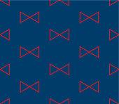 Red Triangle Ribbon on Indigo Blue Background