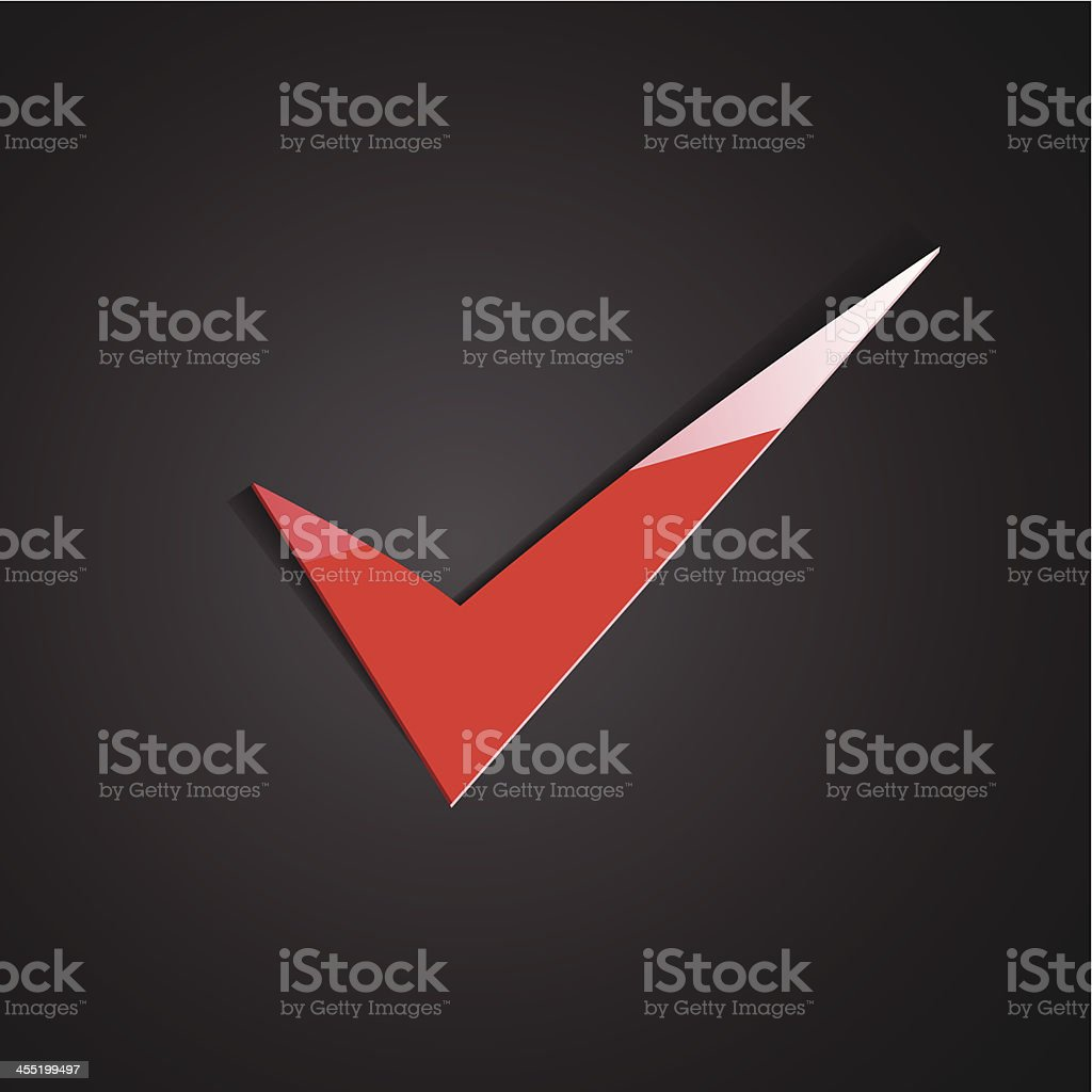 Red true sign royalty-free stock vector art
