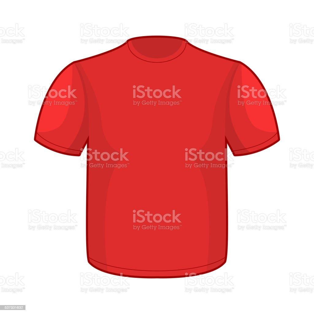 Rot Tshirtvorlage Leere Kleidung Für Ihr Design Vektor Illustration ...