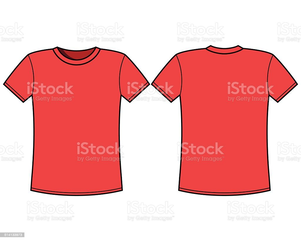 Red tshirt template front and back stock vector art more images of abstract 514133973 istock for T shirt template back