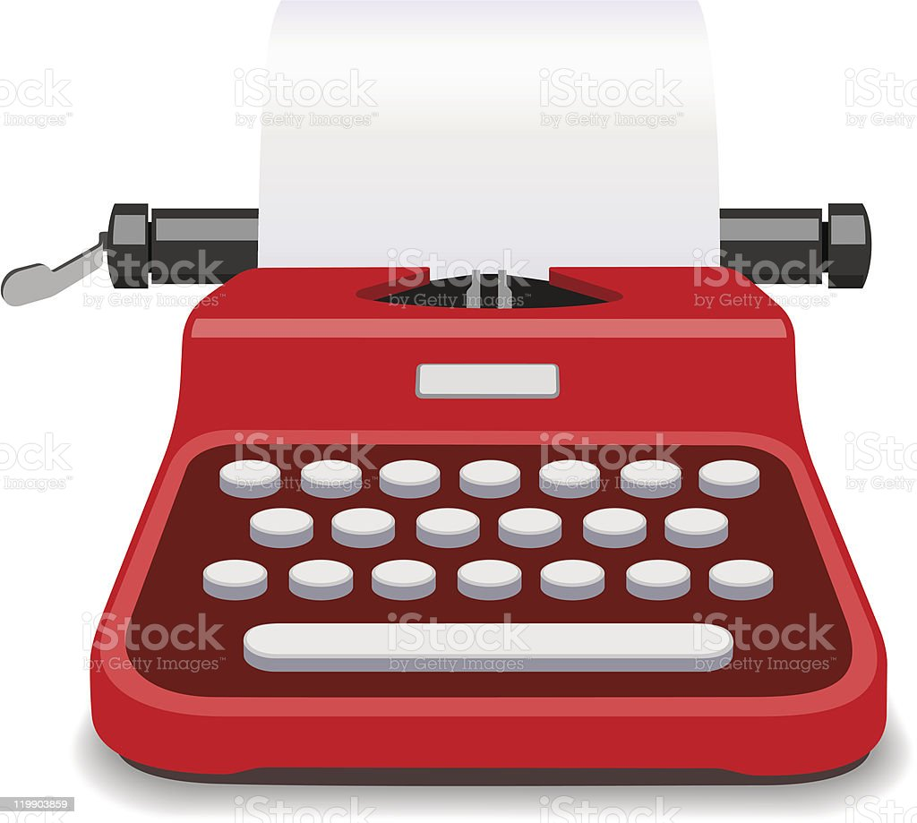 Red Typewriter Vector Illustration royalty-free red typewriter vector illustration stock vector art & more images of antique