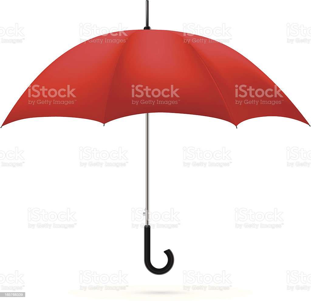 A red umbrella on a white background royalty-free stock vector art