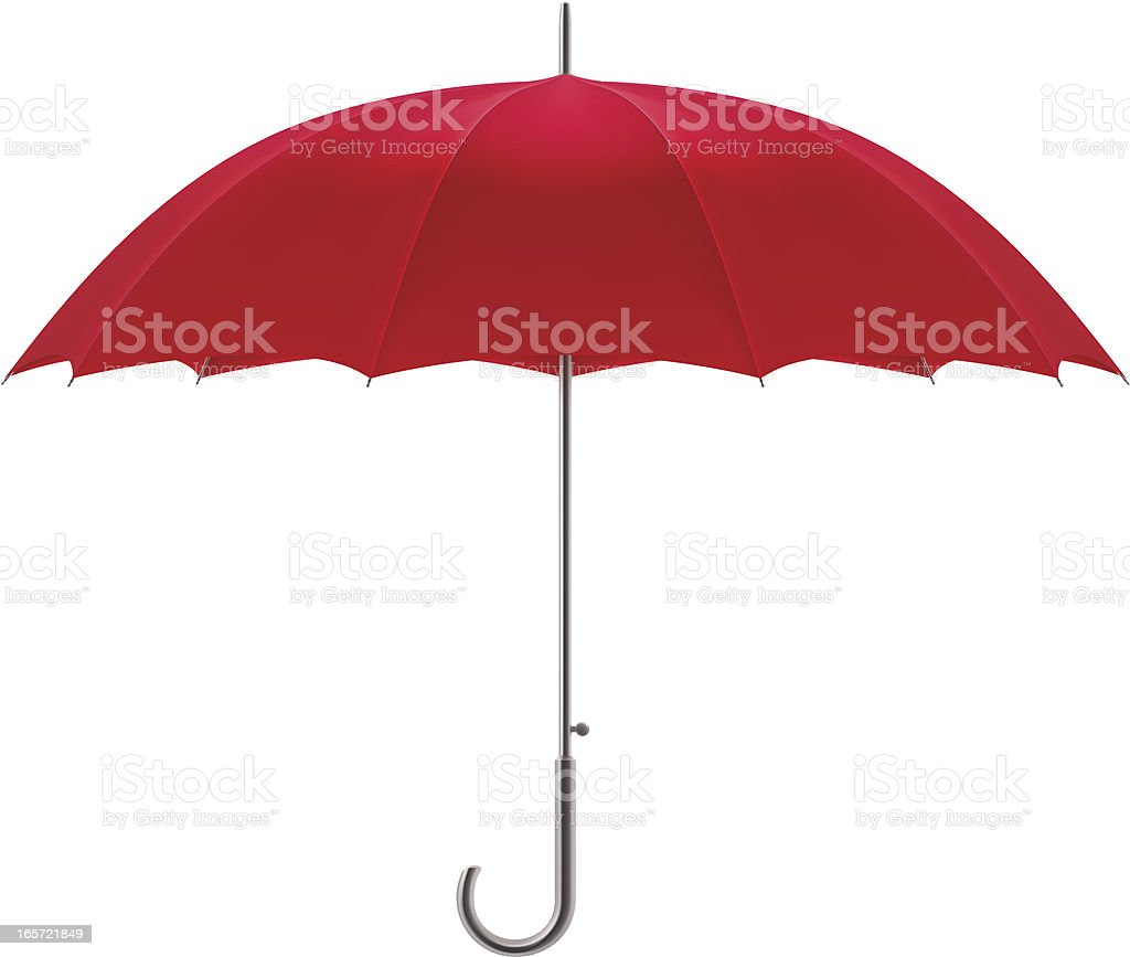 Red umbrella royalty-free stock vector art