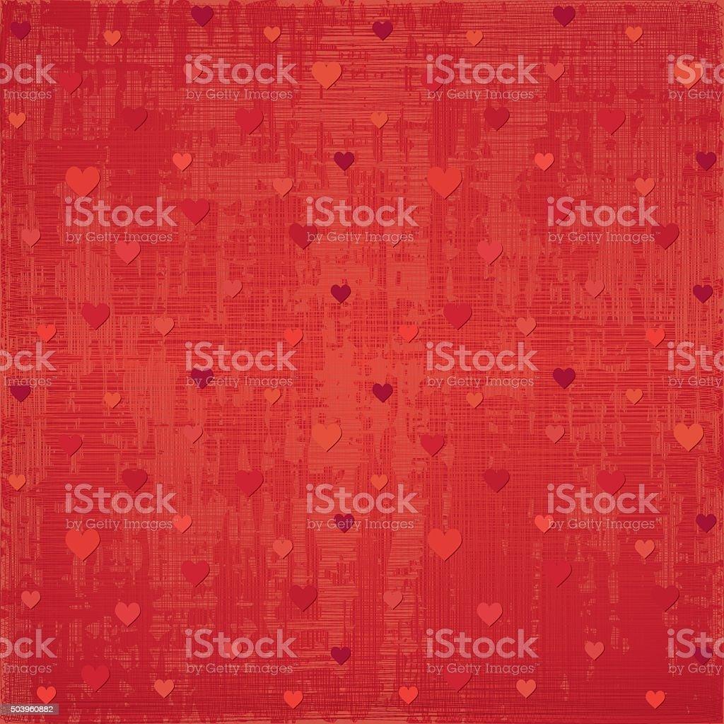 Red Valentine background vector art illustration