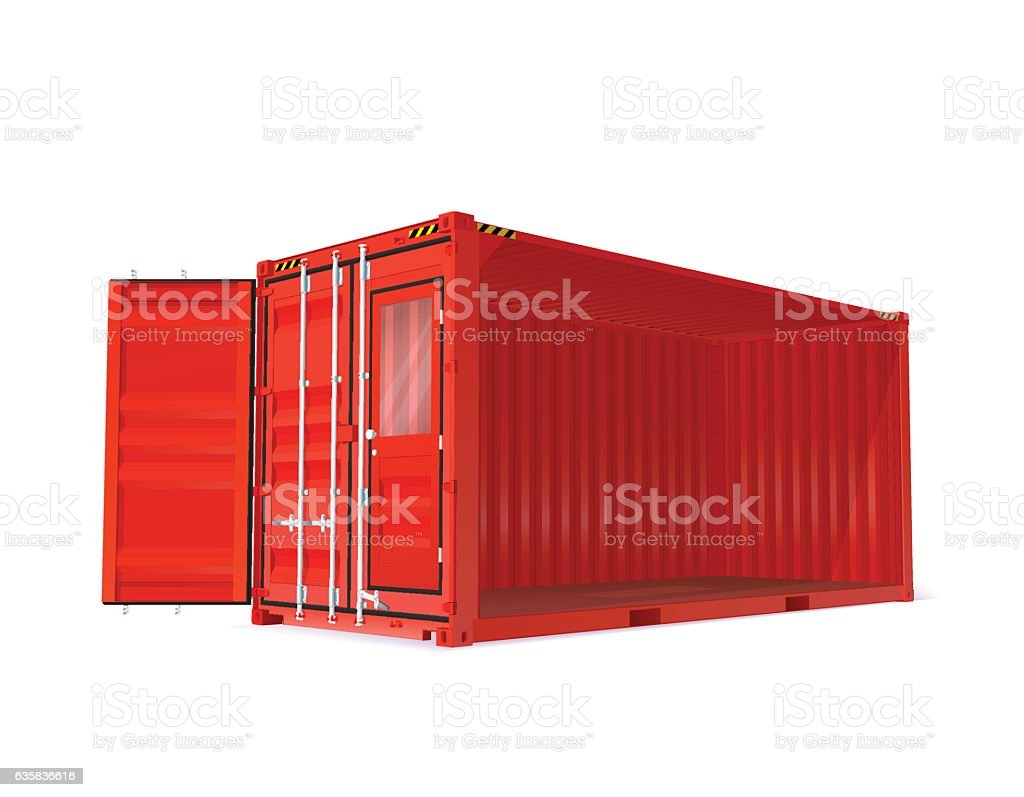 Red Vector Container vector art illustration