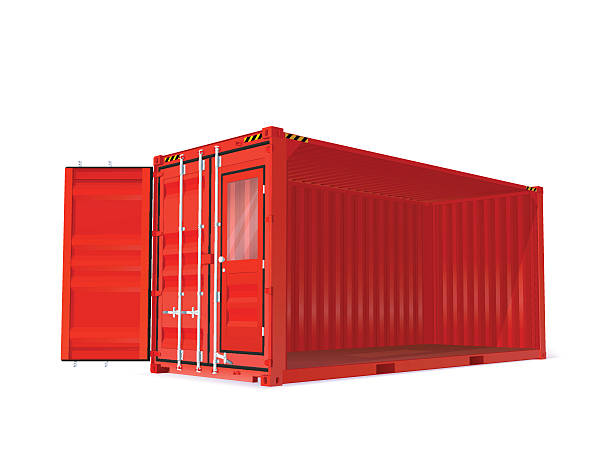 red vector container - container stock-grafiken, -clipart, -cartoons und -symbole