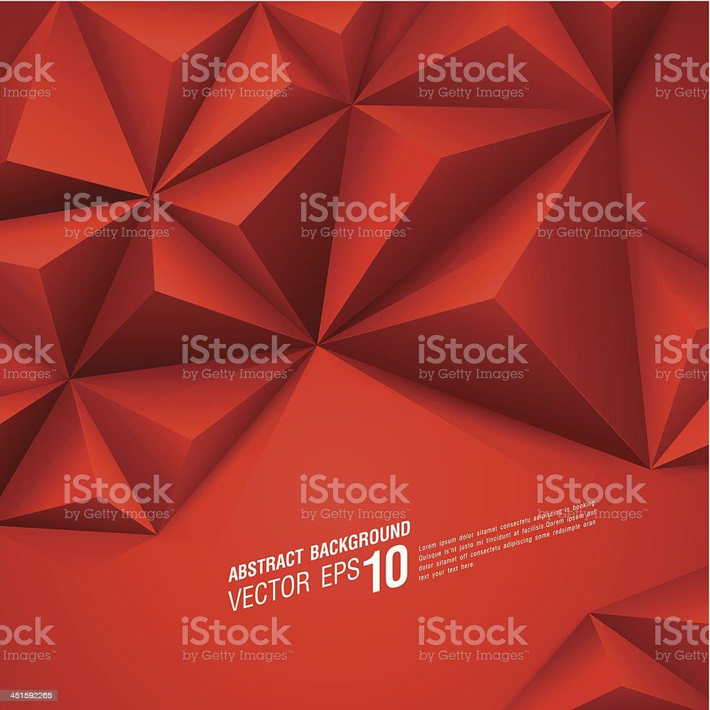 Red vector geometric background. vector art illustration