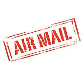 Red vector grunge stamp AIR MAIL