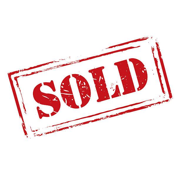 красный векторный гранж штамп продано - торговать stock illustrations