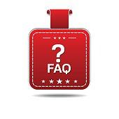 FAQ Red Vector Icon Design