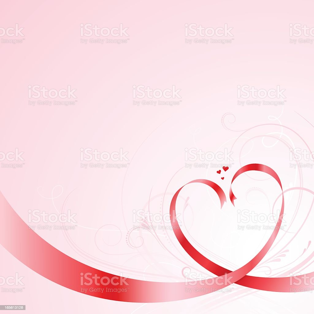 Red vector ribbons forming heart shapes royalty-free red vector ribbons forming heart shapes stock vector art & more images of backgrounds