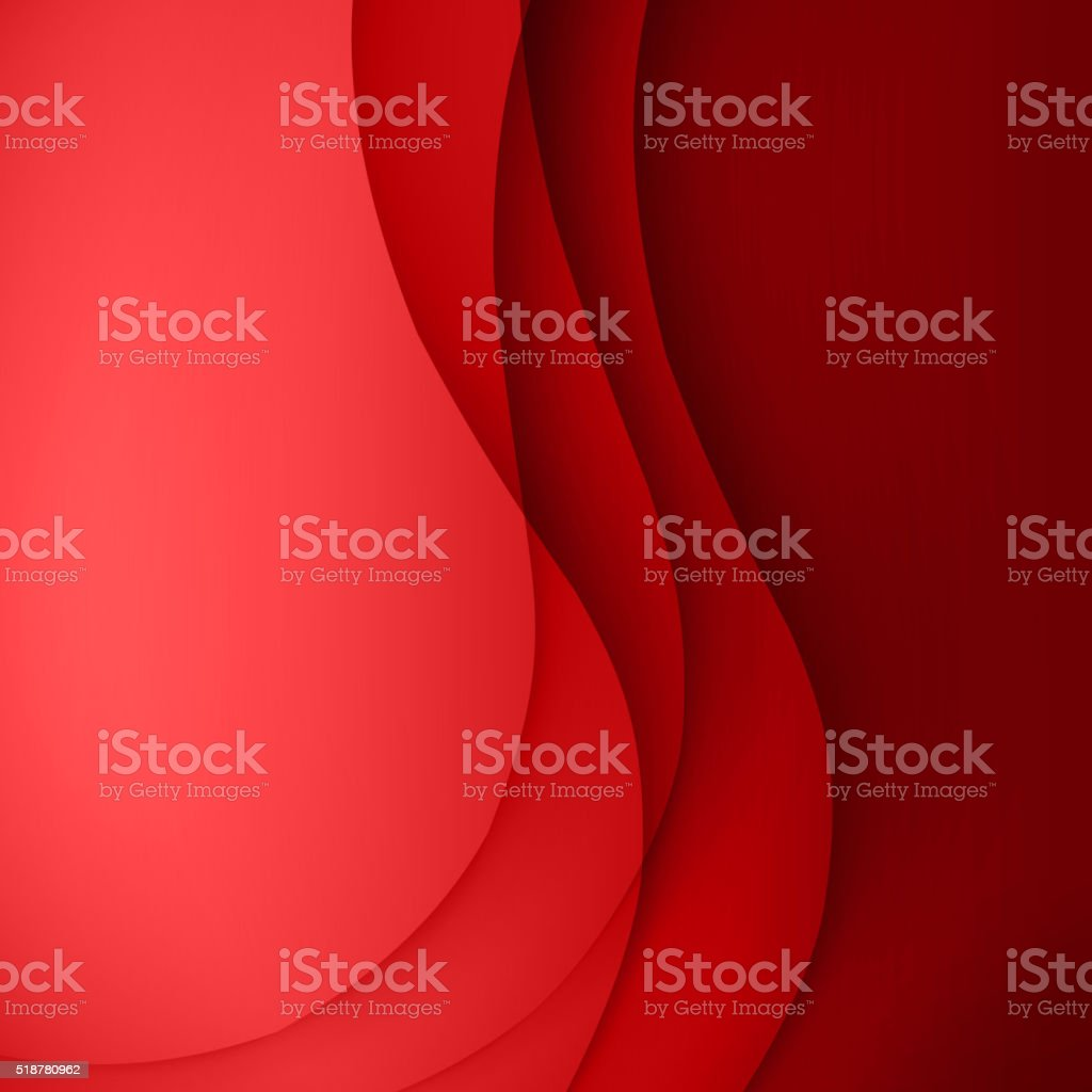 Red vector Template Abstract background with curves lines and shadow