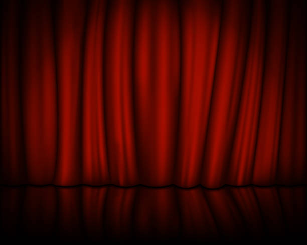 Red Velvet Curtain With Stage Spotlight On Vector Illustration Stock Art More Images Of Abstract 891319408