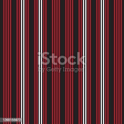 istock Red Vertical stripes seamless pattern background 1265155972