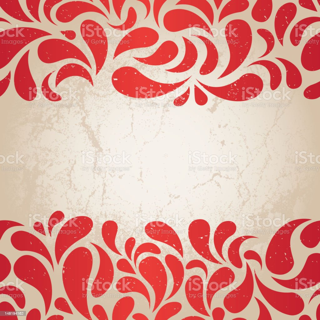 red vintage background royalty-free stock vector art