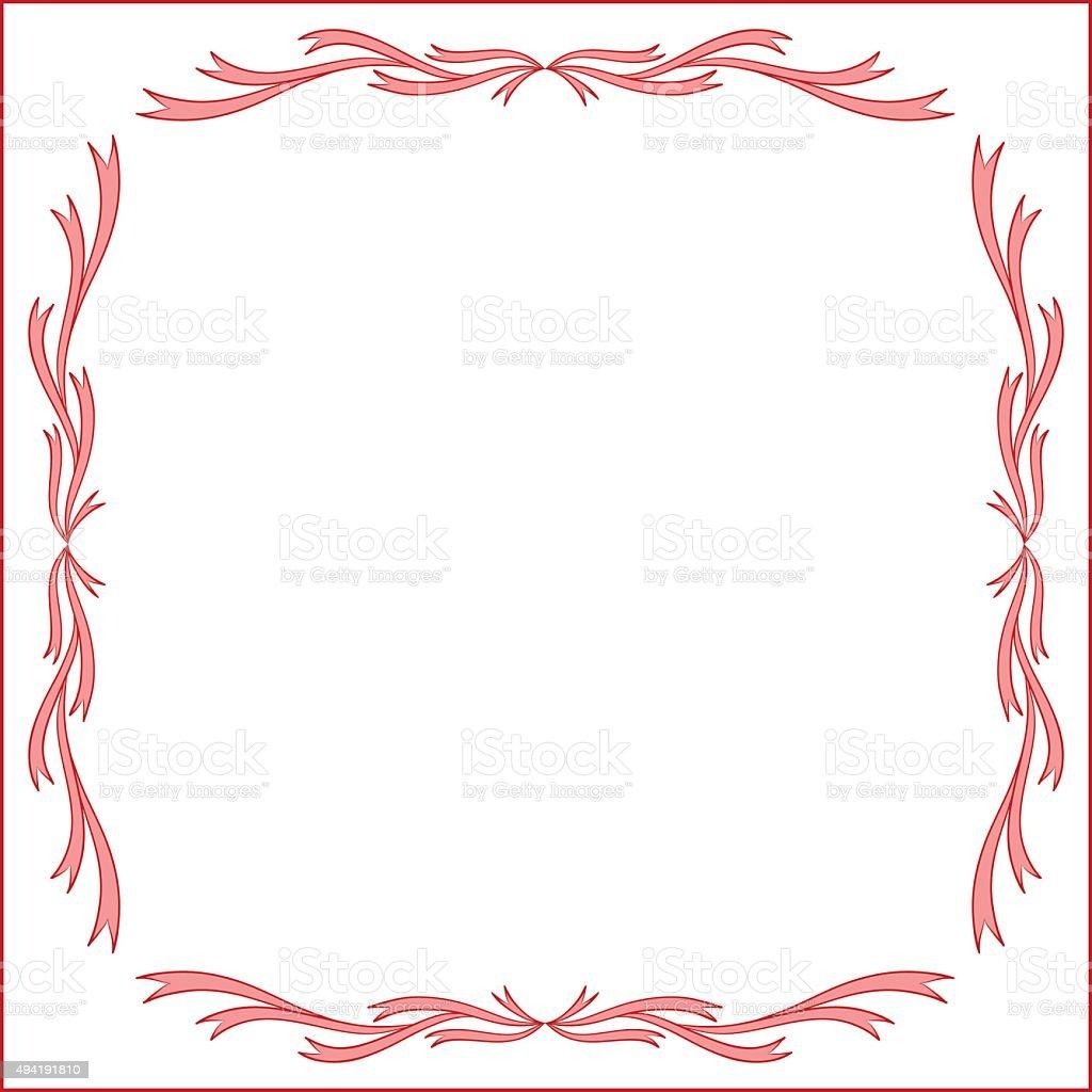 Eccezionale Rosso Vintage Design Cornice Per Biglietto Dauguri Illustrazione  YG59